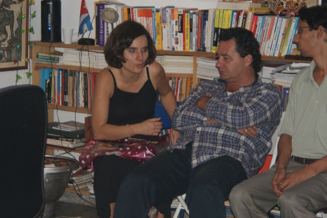 Liliane Ruiz + Angel Santiestaban at Yoani and Reinaldo's house
