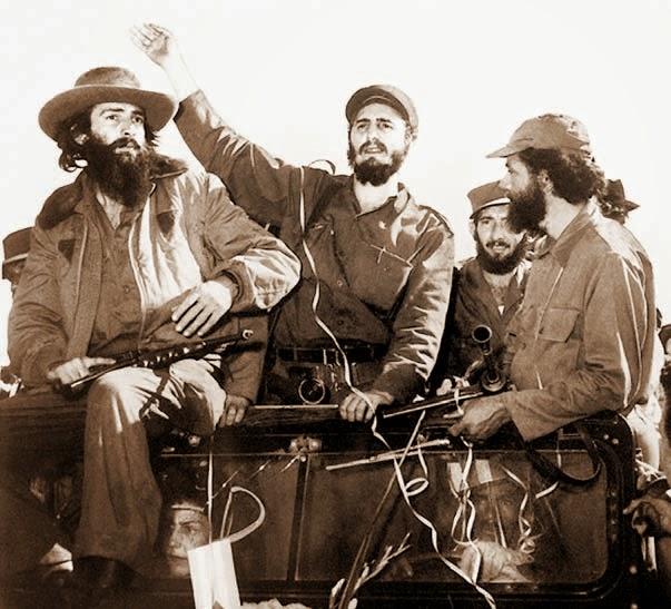 L. Camilo Cienfuegos, Ctr. Fidel Castro, R. Huber Matos