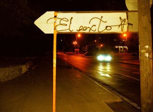 El Sexto's signature on a traffic sign (14ymedio)