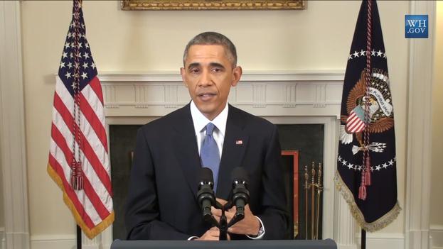 Obama during his speech
