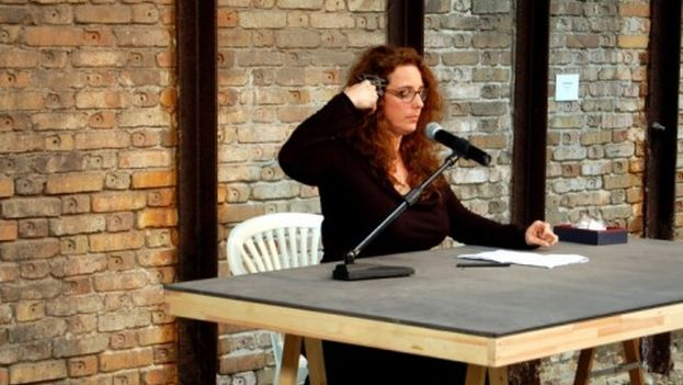 Tania Bruguera (photo from her blog)