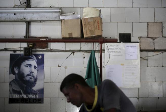 A butcher shop in Havana. (Source)