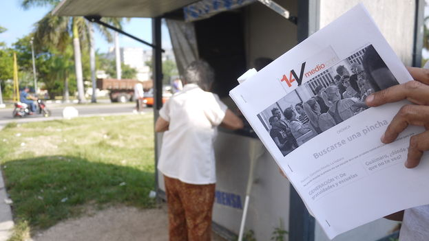 Printed version of 14ymedio distributed on the island through alternative networks