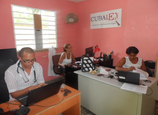 Cubalex office in Havana (photo by the author)