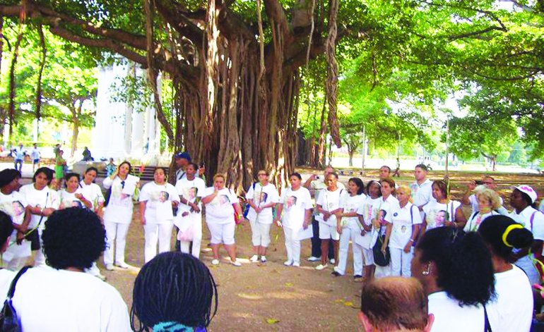 The Ladies in White in Gandhi Park on a previous Sunday