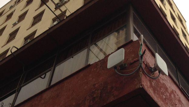 Wi-Fi antenna in Havana. (14ymedio)