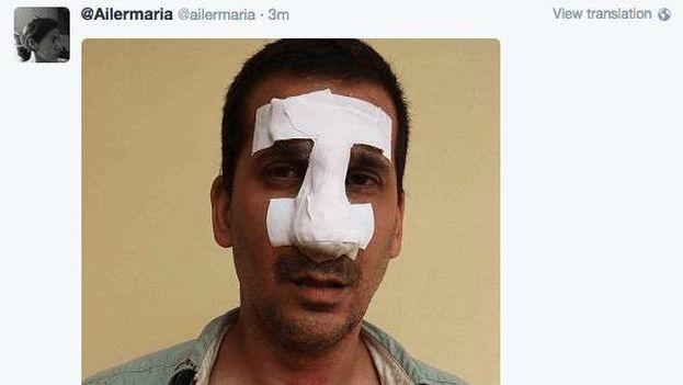 Antonio Rodiles after his arrest. (Ailer González)