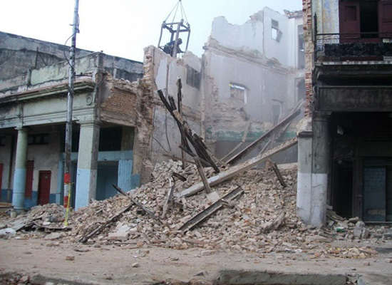 Site of a previous building collapse in Havana