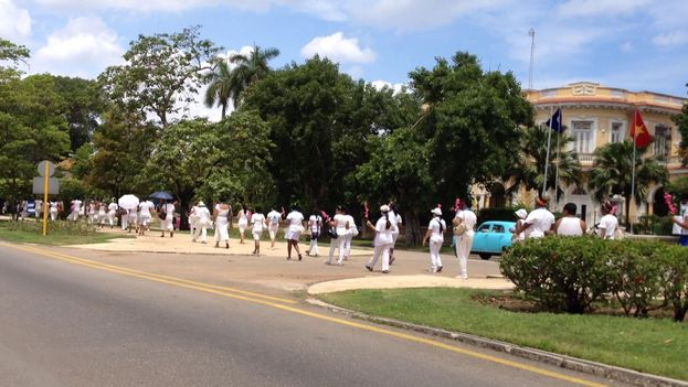 A Sunday march of the Ladies in White in Havana. (14ymedio)