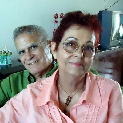 Miriam Leiva with her late husband Oscar Espinosa Chepe