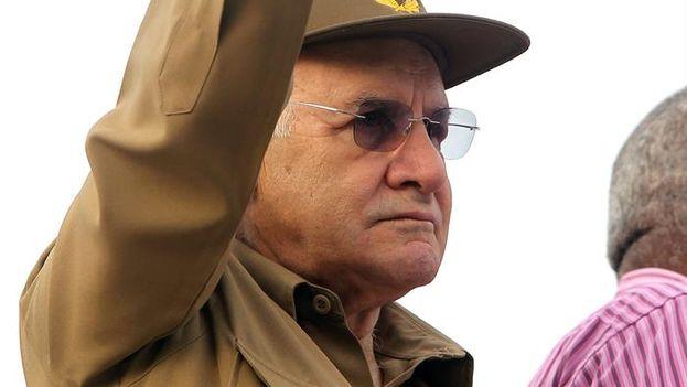 General Abelardo Colome Ibarra, alias 'Furry,' minister of the interior from 1989 until his resignation on Monday, 26 October 2015 (EFE / Alejandro Ernesto)