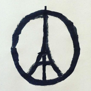 Image of solidarity with the victims of the attacks in Paris.