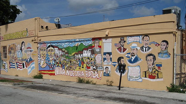 Mural painted on a café in Little Havana, Miami. (Flickr)