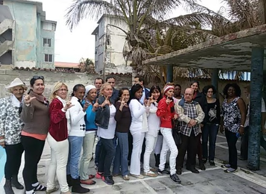 Participants in the first Rights and Freedoms Workshop at Estado de Sats (photo by the author)