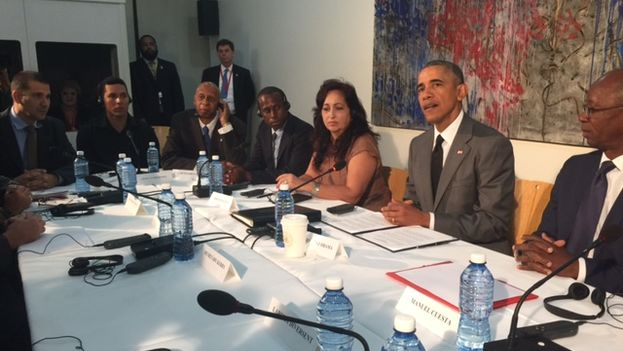 US President Barack Obama meets with representatives of Cuban independent civil society in Havana (14ymedio)
