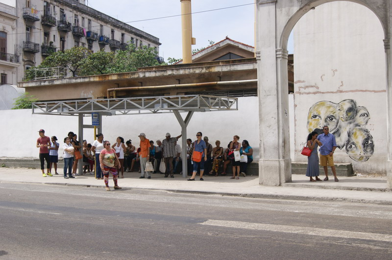 "What does ""a prosperous and sustainable socialism"" mean for citizens who must wait for more than two hours for a bus? Photo/ HP"
