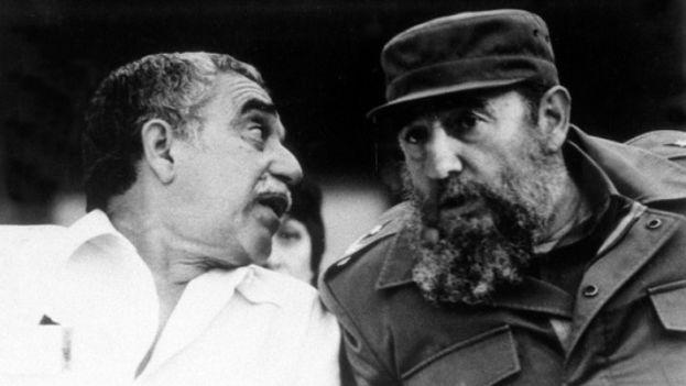 Gabriel García Márquez with Fidel Castro. (GGM files)