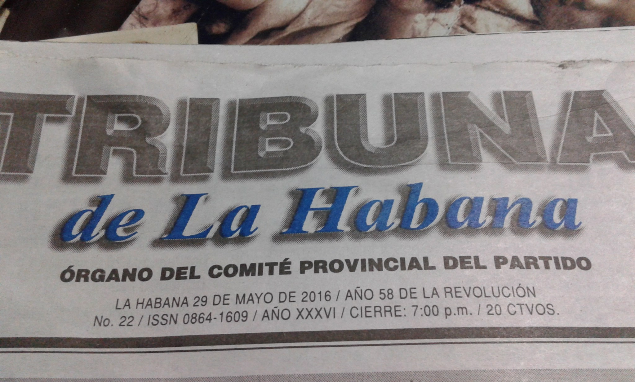 Havana Tribune: Official Organ of the Provincial Committee of the [Communist] Party