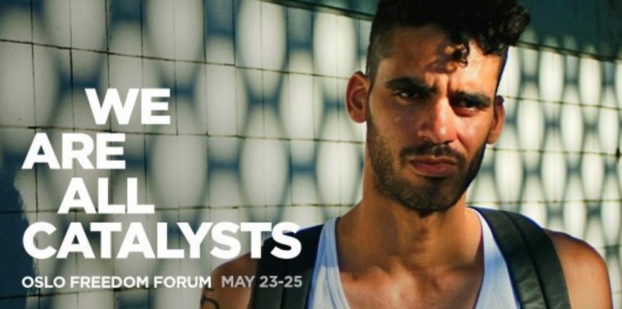 "Danilo Maldonado, known as ""El Sexto,"" is also speaking at the Oslo Freedom Forum this week."
