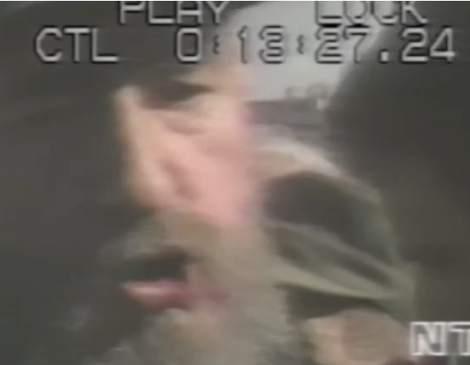Screenshot from video of Fidel at the Maleconazo uprising, August 1994