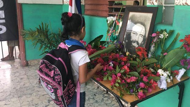Each October 28 the commemoration of Camilo Cienfuegos has become a tradition in primary schools across Cuba. (14ymedio)