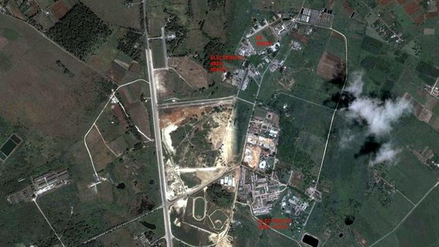 Aerial view of Soviet military base in Lourdes, Cuba. (Google Earth)