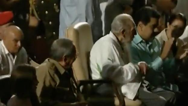 Fidel Castro celebrates his 90th birthday in the Karl Marx Theatre.