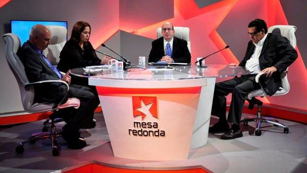 "The ""Roundtable"" program where Cuban journalists lash out against the United States. (Cuban TV)"