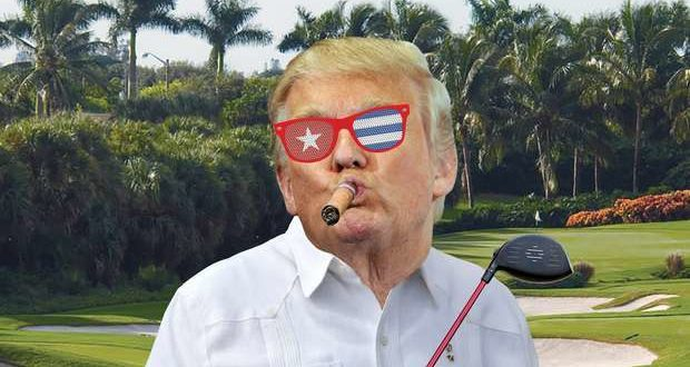 Cartoon published in Did Donald Trump's Executives Violate the Cuban Embargo? Bloomberg, July 28, 2016.